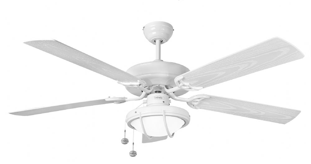 Fantasia medina 52 white ip54 outdoor ceiling fan light 115359 mozeypictures Choice Image